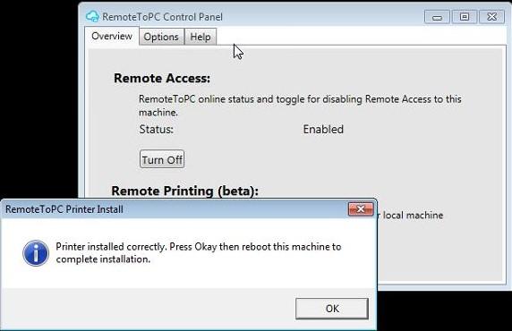 reboot computer to print
