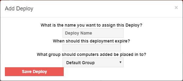 Remote host deployment