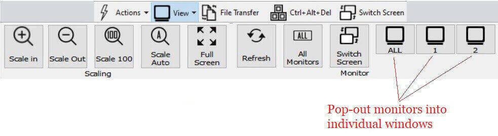 pop-out monitors